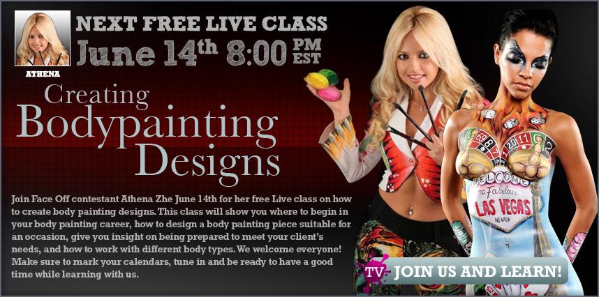 Athena Zhe free body painting class